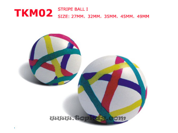topkay:TKM02-Stripe Bouncy Balls