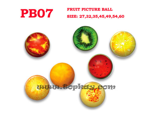 topkay:Fruit picture bouncy ball