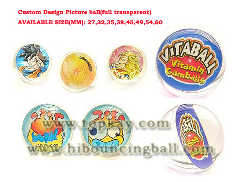 topkay:Custom Design Picture Bouncy Ball